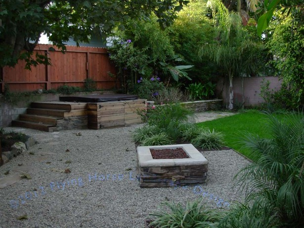 New firepit and spa (which was added to an eisting raised planter)