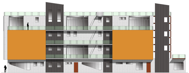 rendering of west facade for neighborhood review