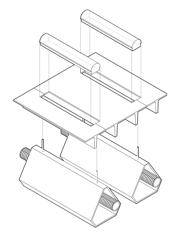 Exploded Axonometric of Ceiling Assembly