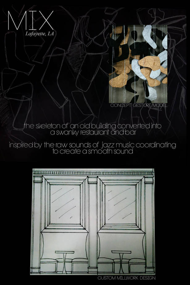 Concept gesture and sketch, millwork design