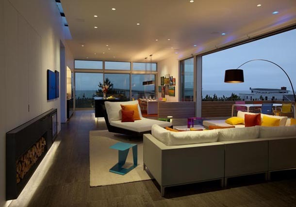 living space, evening