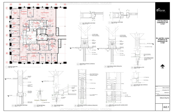 Reflected Ceiling Plan Sheet - This Page Contains the Reflected Ceiling Plan, and Details.