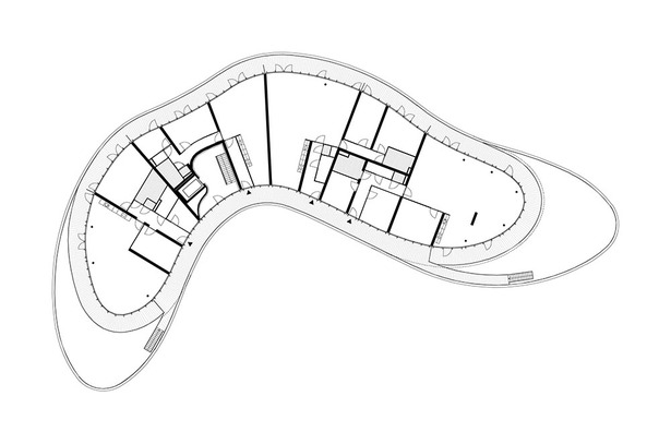 Claus en Kaan Architecten / Third Floor plan