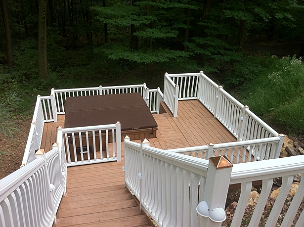 From the previously existing deck