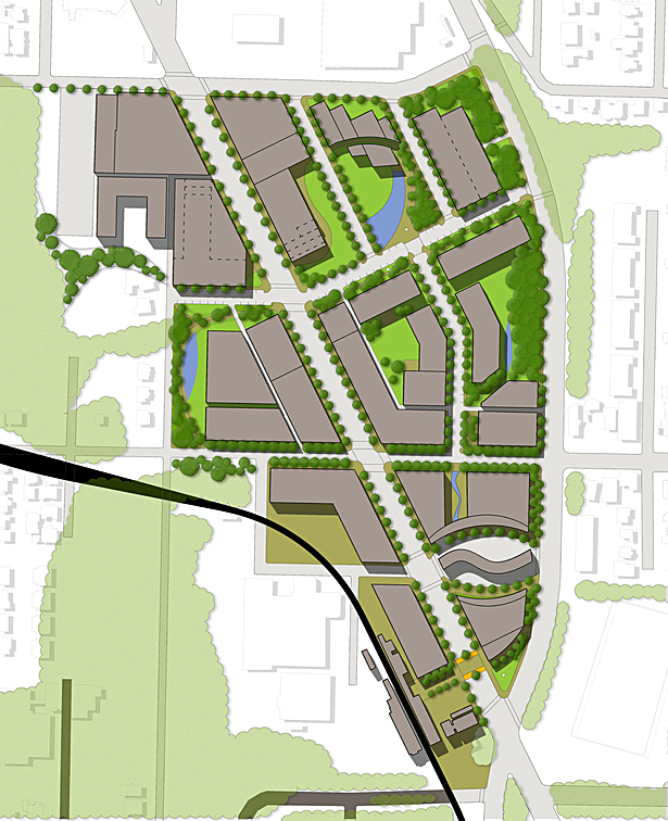 Neighborhood Site Plan | Arc GIS, Auto Cad, Sketch Up, Photoshop