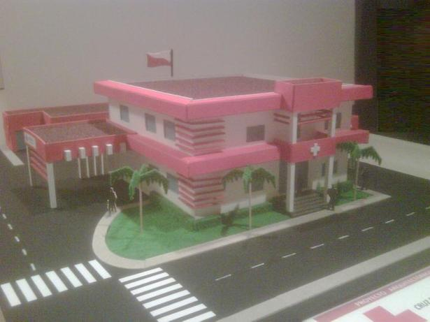Red Cross Scale Model.
