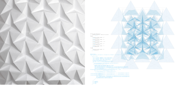 tessellated origami pattern