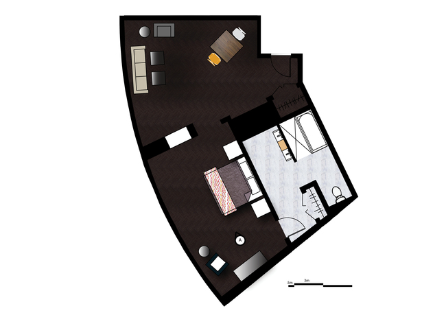 Premiere Suite Rendered Floor Plan