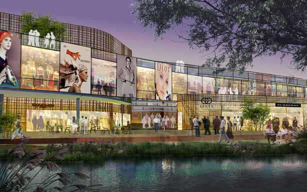 Retail Mall and Plaza Exterior