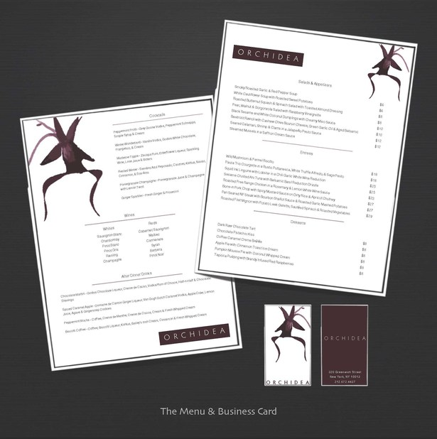 Menu & Business Card