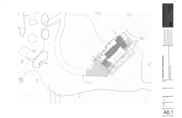 Jurkowich Residence Sheet A0.1 - Site Plan