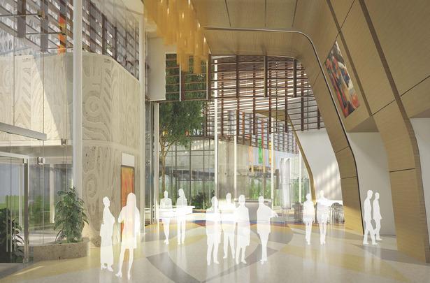 Exhibit Hall Prefunction Space toward Entry Lobby