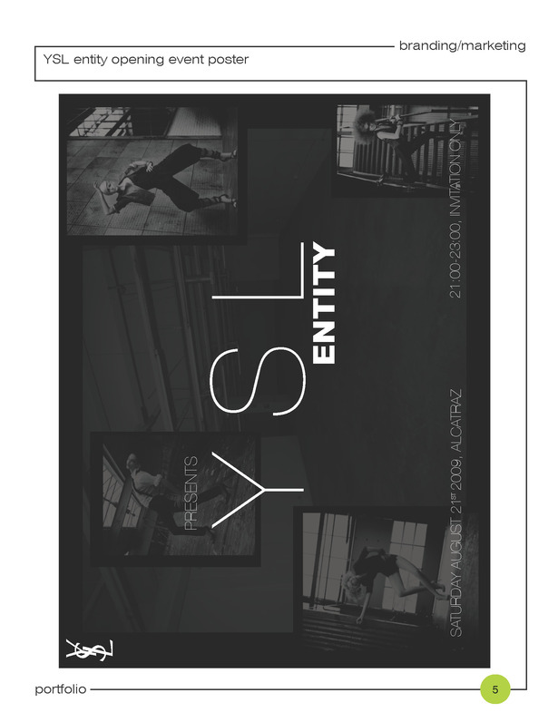 + branding identity; opening event poster