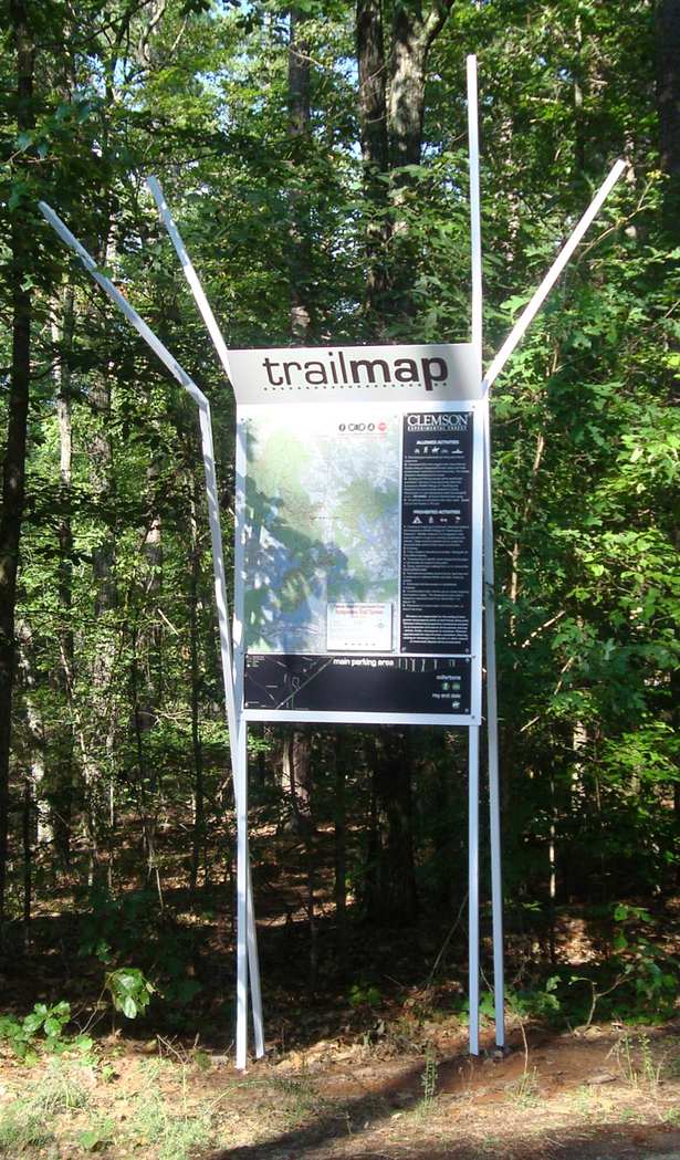new trail map outlining the various routes; preventing the chance of people getting lost/confused