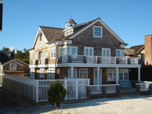 East elevation facing the beach.
