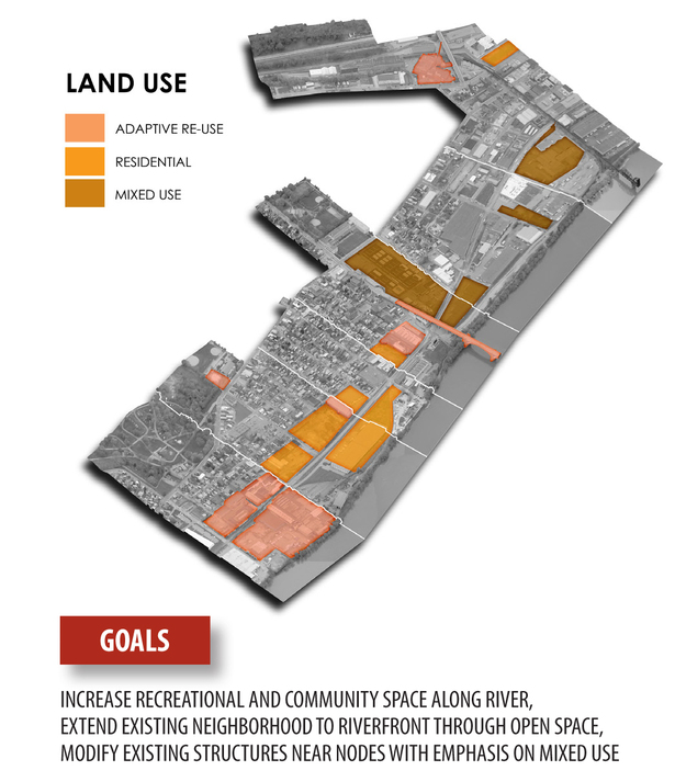 overview of land use system (BIng Maps, Adobe Photoshop)