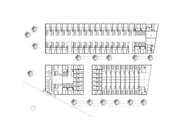 Claus en Kaan Architecten / Site plan + ground floor