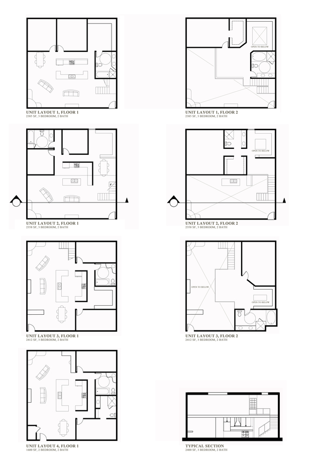 Unit Plans of the Apartments