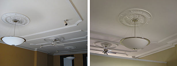 partial dividing wall maintaining ceiling details