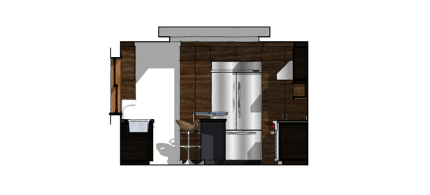Proposed Kitchen East Elevation