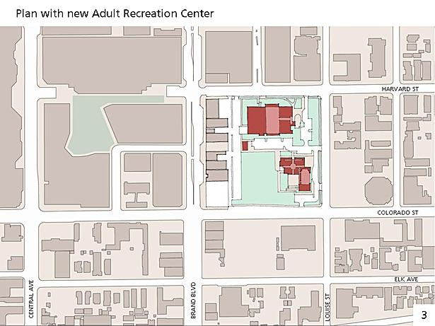 Existing Plan with new Adult Recreation Center