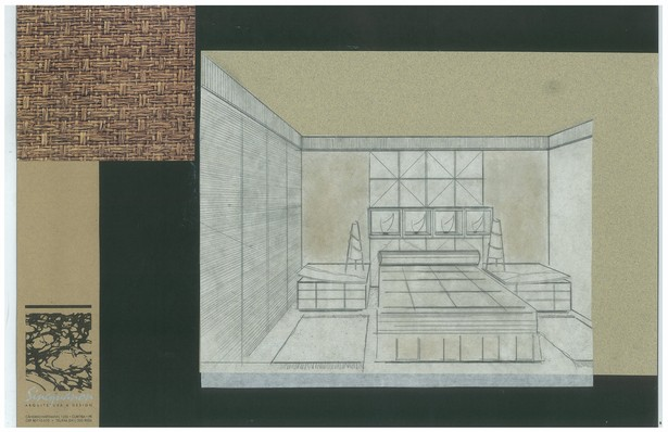 Bachelor's Condo | Bedroom | Interior Hand-Sketch