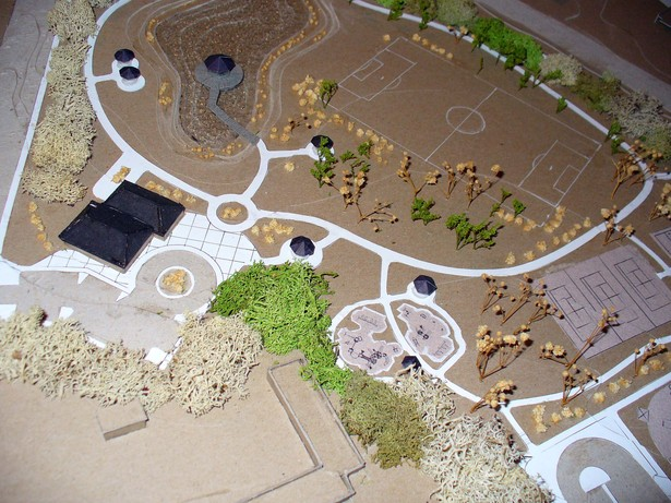 Detail of scale model