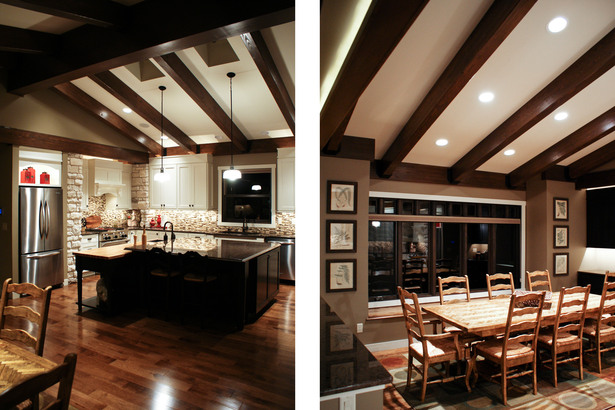 Karr Residence. Interior. Kitchen / Dining Area.