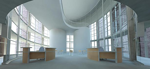 Library Main Entrance Interior - Initial Render