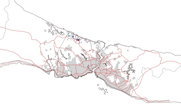 Istanbul's Regional Plan (grey = built area)