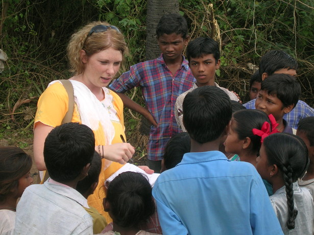 Working with orphans and local students to understand their needs