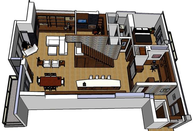 isometric of penthouse floor plan