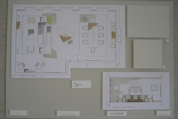 floor plan of living room