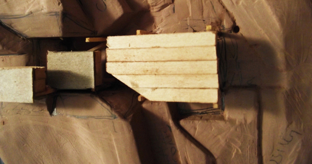 process model (clay, wood, chipboard)