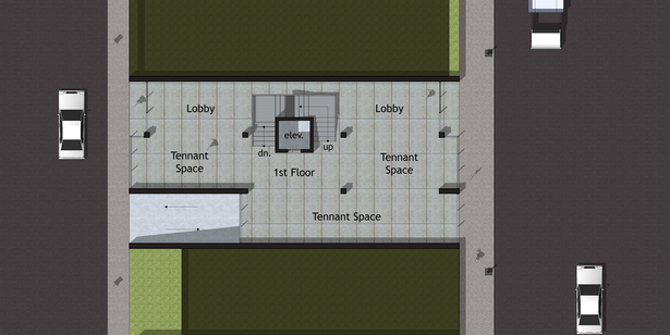 Option B - First Floor Plan (Street Level)