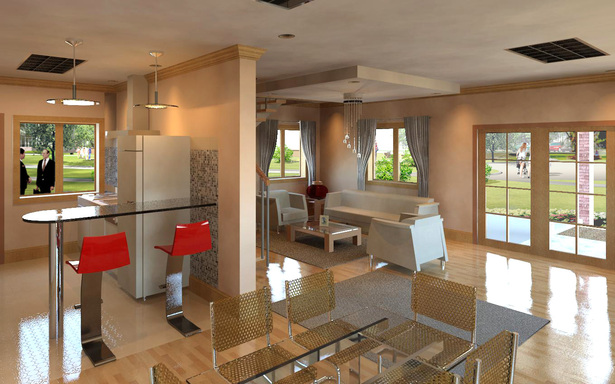 Modeled and rendered in REVIT 2012