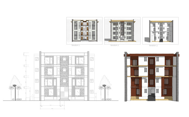 Apartment Buildings Facade Study