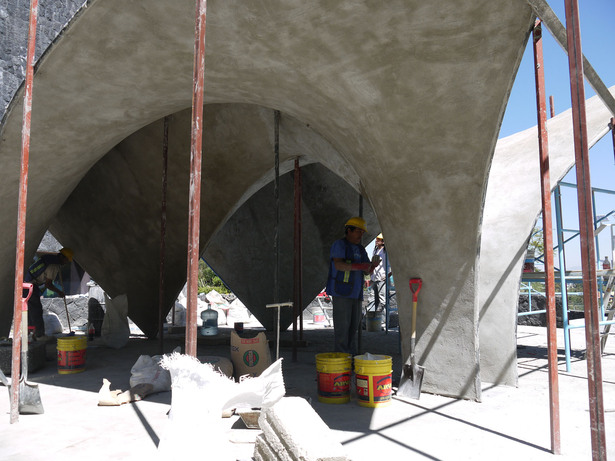 Zaha Hadid Concrete Shell - Construction Image (Zaha Hadid Architects)