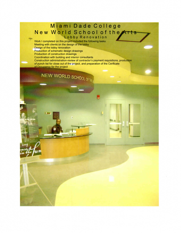 Miami-Dade College-New World School of the Arts Campus-Lobby Renovation