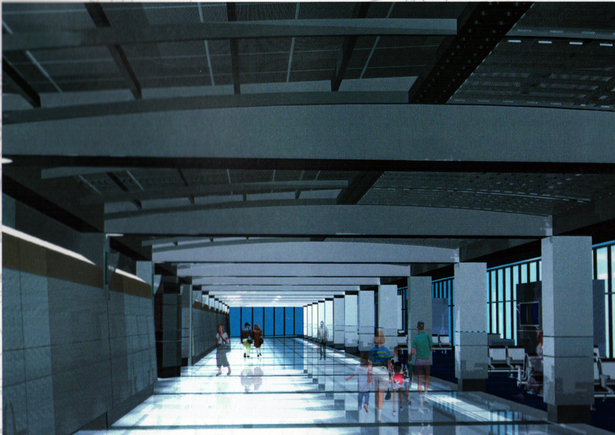 3d image of Ticket Hall - 300ft in length