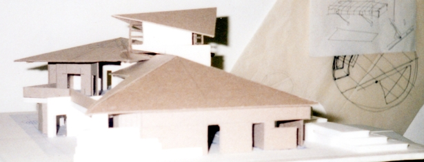 massing model side perspective