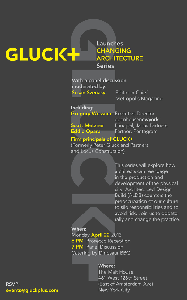 GLUCK+ 'Changing Architecture' 2013 New Series in NYC