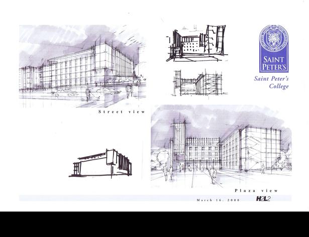 Initial sketches of the Building, Court and Street Views