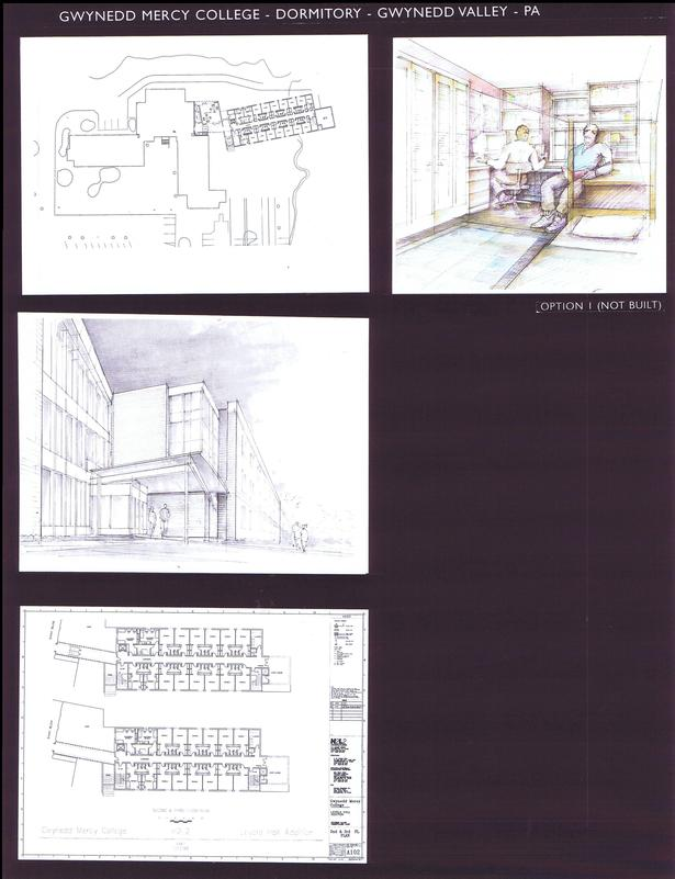 First Addition, Floor Plan with Exist. Bldg., 1st and 2nd Fl. Plan of First Addition