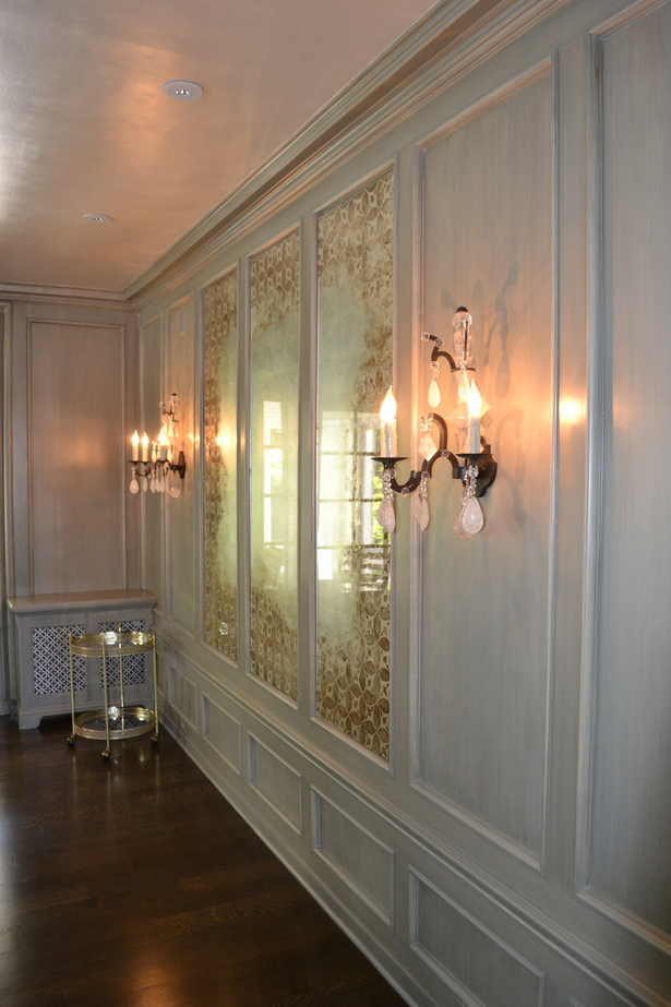 Dining Room, Custom Gold Leaf Designed Mirror