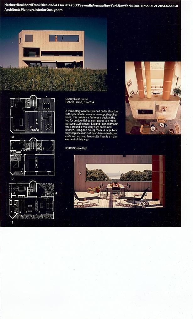 Herbert Beckhard FAIA - Basilou Residence, Fishers Island NY
