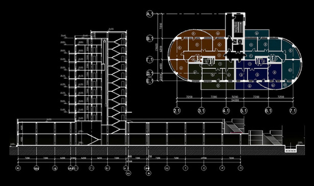 section / typical floor plan