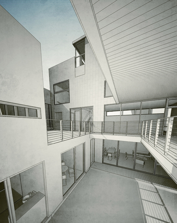 Render of Interior Patio a
