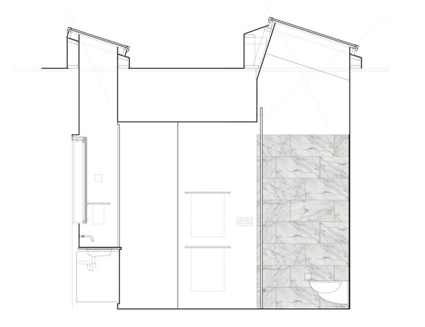 Master Bathroom Section-Elevation