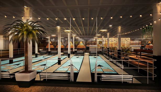 Interior view of the Shuffleboard club (rendering)